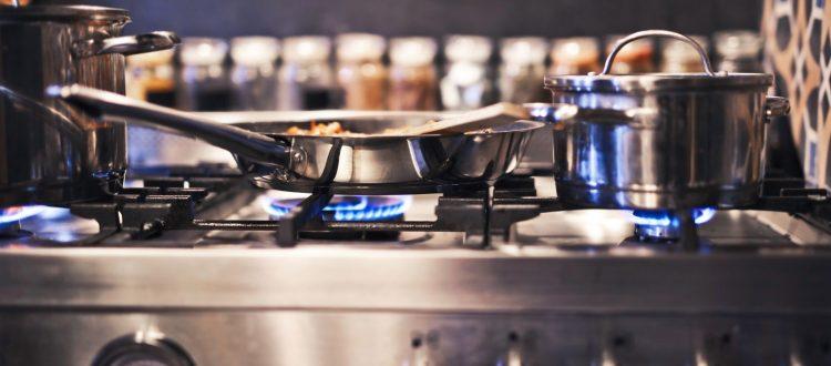 μαγείρεμα με φυσικό αέριο